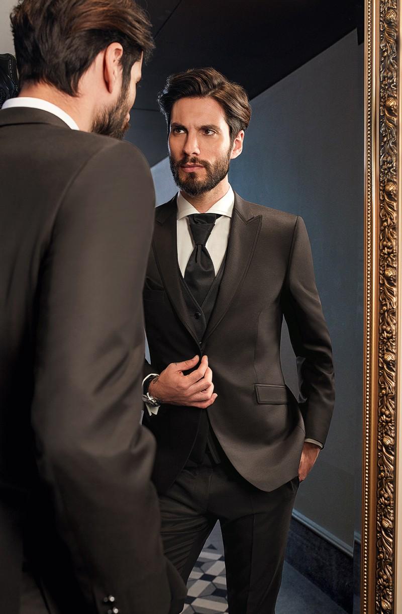 Hochzeit Anzug klassisch edel braun