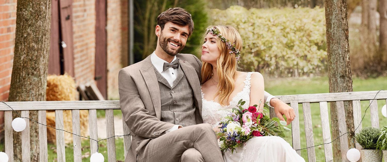 Hochzeitanzug Entspannt Vintage Bohemian