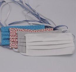 Gesichtsmaske insgesamt 6 Designs, mit Filtertasche und Metallbügel aus kochbarer Baumwolle