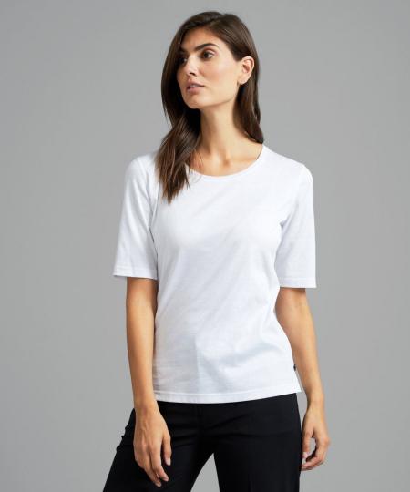 Vam Laack Meisterwerk-T-Shirt mit Rundhalsausschnitt aus feinstem Swiss Cotton