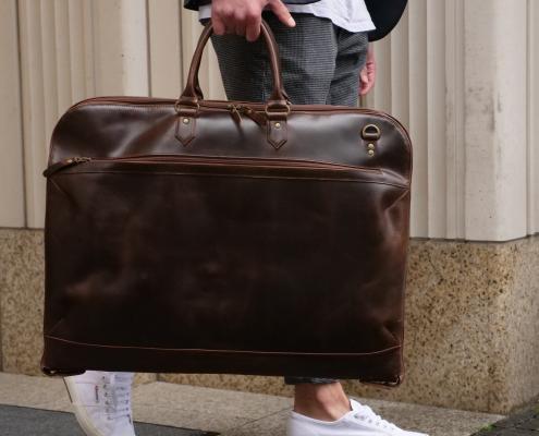 Anzugstasche und Kleidersack Sullivan in braun
